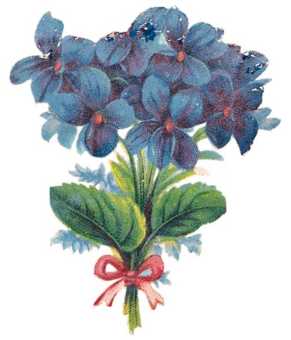 Free-vintage-flowers-blue-forget-me-nots